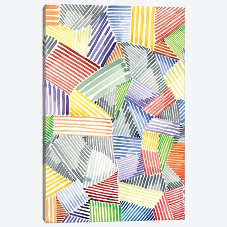 Crosshatch Quilt I Canvas Print #NIK54} by Nikki Galapon Art Print