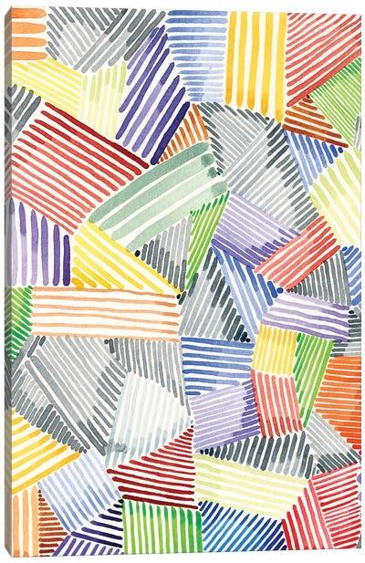 Crosshatch Quilt I Canvas Art Print