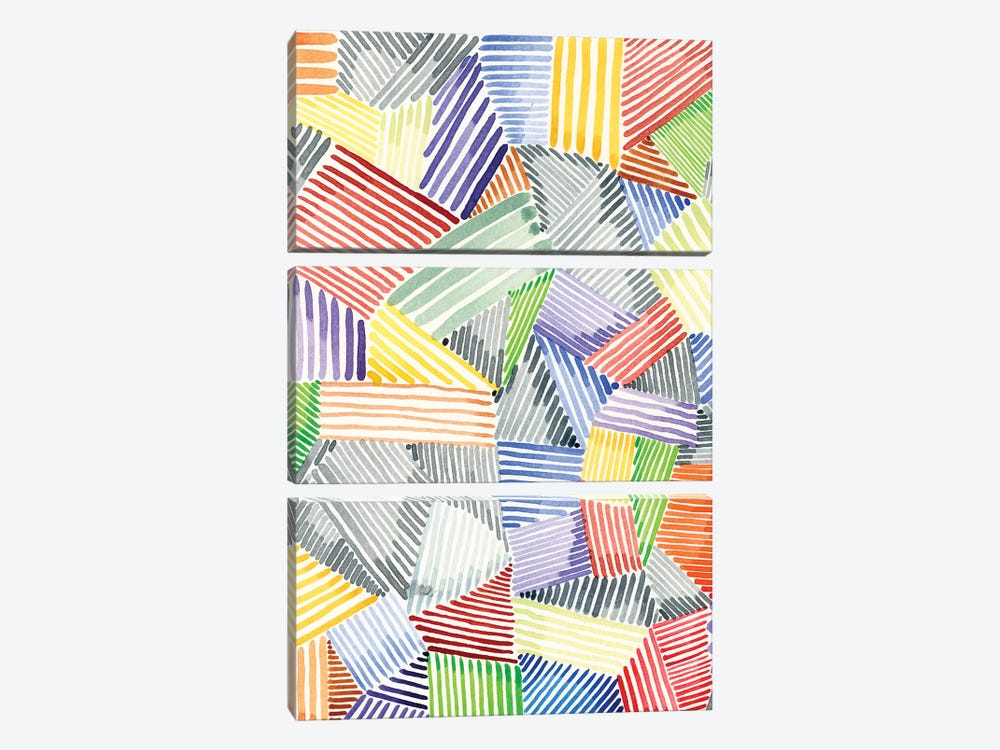 Crosshatch Quilt I by Nikki Galapon 3-piece Canvas Art