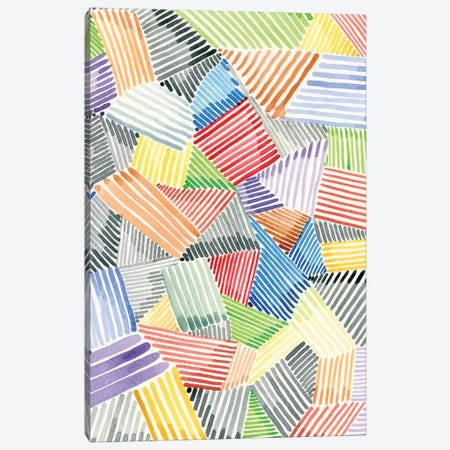 Crosshatch Quilt II 3-Piece Canvas #NIK55} by Nikki Galapon Canvas Art Print