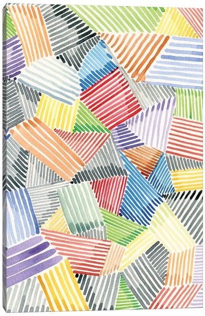 Crosshatch Quilt II Canvas Art Print
