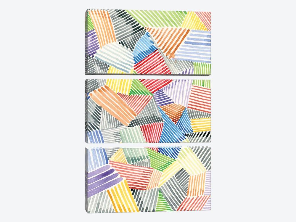 Crosshatch Quilt II by Nikki Galapon 3-piece Canvas Print