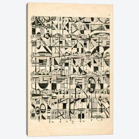 Graphic Notes Canvas Print #NIK57} by Nikki Galapon Canvas Art Print