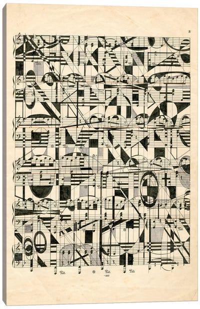Graphic Notes Canvas Art Print