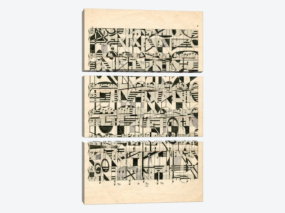 Graphic Notes by Nikki Galapon 3-piece Canvas Print