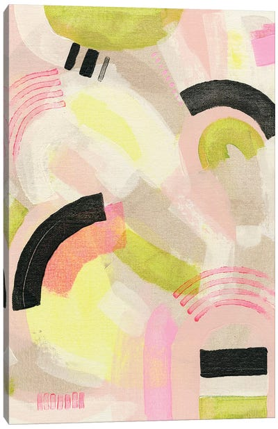 Neon Marks II Canvas Art Print