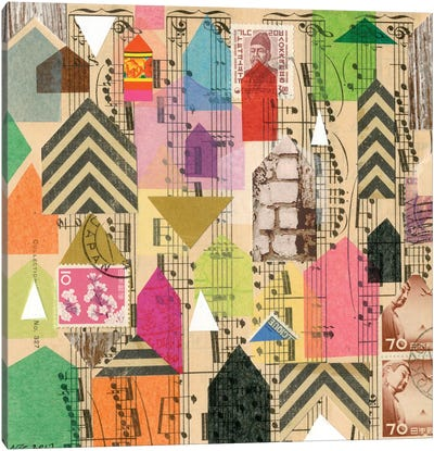 Stamped Houses I Canvas Art Print