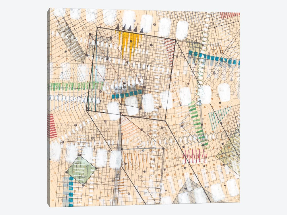 Grid Lines I by Nikki Galapon 1-piece Canvas Wall Art