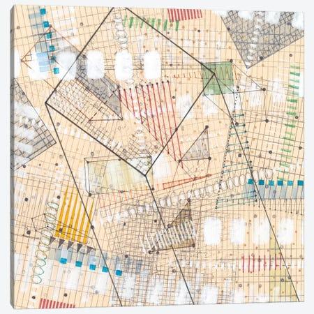 Grid Lines II Canvas Print #NIK8} by Nikki Galapon Canvas Wall Art