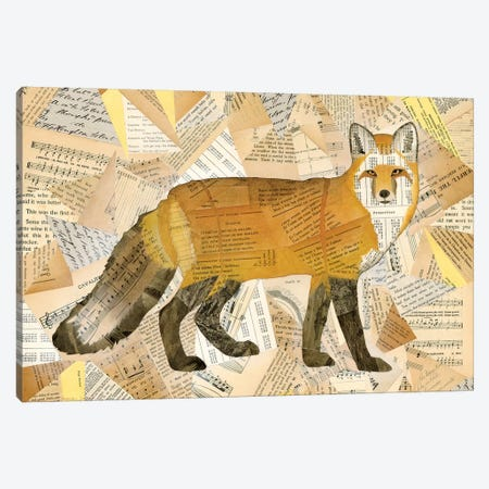 Red Fox Collage I Canvas Print #NIK9} by Nikki Galapon Canvas Artwork