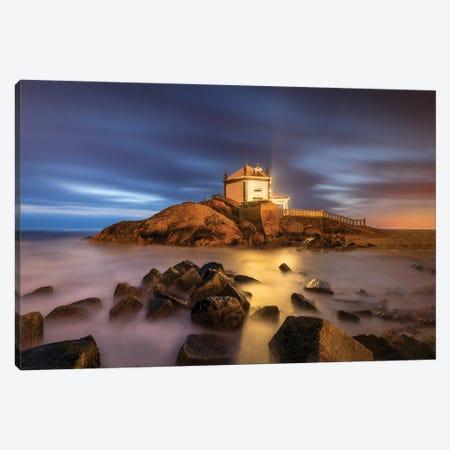 Chapel On The Rocks, Portugal Canvas Print #NIL103} by Jim Nilsen Canvas Art Print