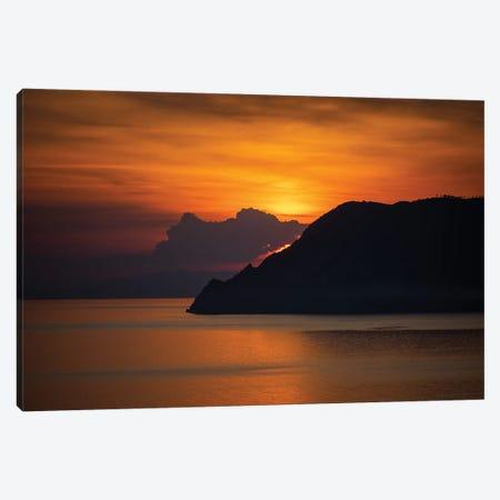Cinque Terre Sunset, Italy Canvas Print #NIL104} by Jim Nilsen Canvas Art