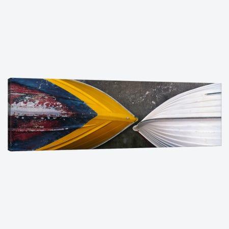 Bow To Bow, Tellaro, Italy Canvas Print #NIL11} by Jim Nilsen Art Print