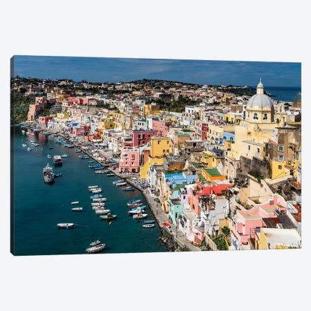Italian Color, Procida, Italy Canvas Print #NIL125} by Jim Nilsen Canvas Art