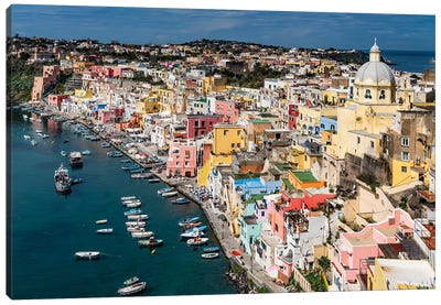 Italian Color, Procida, Italy Canvas Art Print