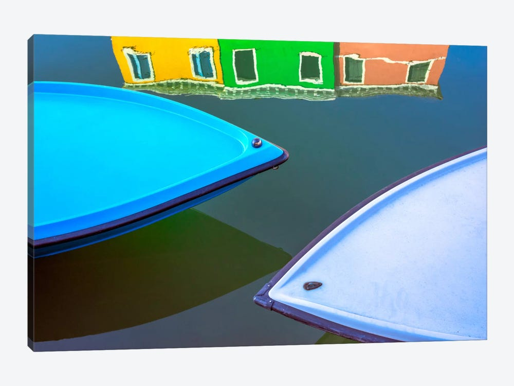 Burano Reflections, Burano, Italy by Jim Nilsen 1-piece Canvas Print