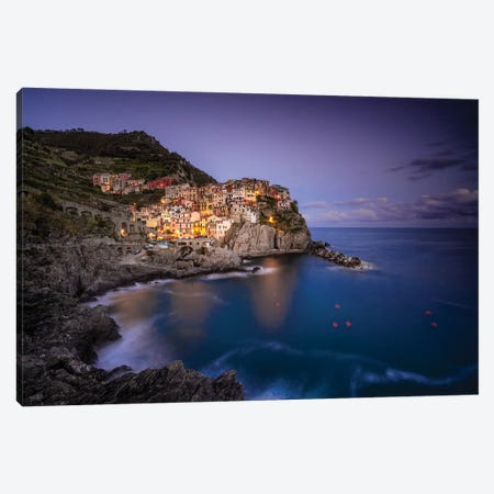 Ligurian View, Manarola, Italy Canvas Print #NIL138} by Jim Nilsen Canvas Artwork