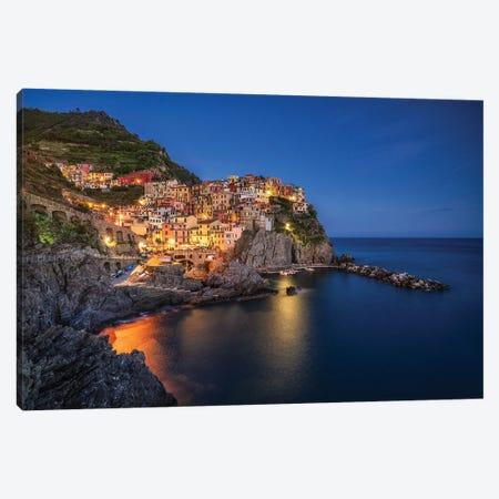 Manarola Blue, Cinque Terre, Italy Canvas Print #NIL140} by Jim Nilsen Canvas Art Print