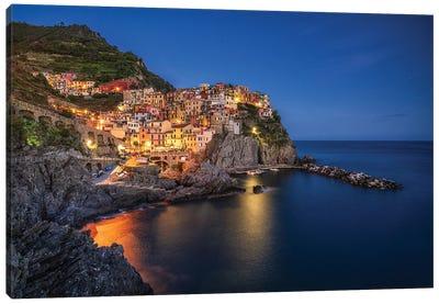 Manarola Blue, Cinque Terre, Italy Canvas Art Print