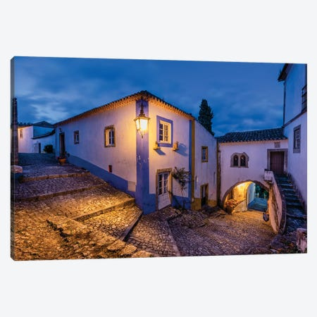 Medieval Way, Obidos, Portugal Canvas Print #NIL142} by Jim Nilsen Art Print