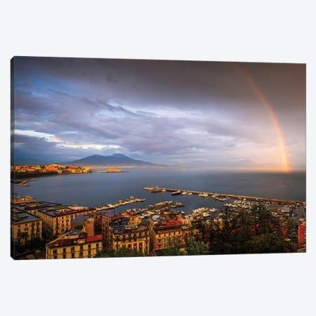 Napoli Rainbow, Naples, Italy Canvas Print #NIL143} by Jim Nilsen Art Print