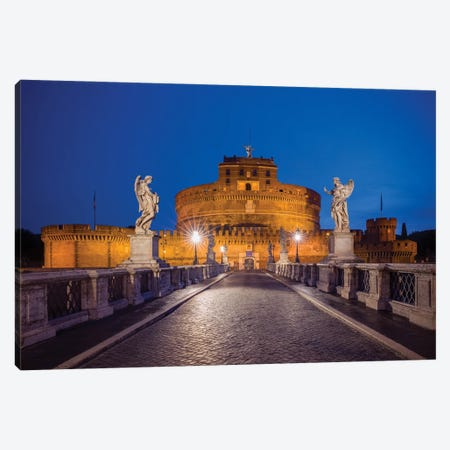 Ponte Sant'Angelo, Rome, Italy Canvas Print #NIL146} by Jim Nilsen Canvas Art