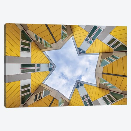 The Cube Houses, Rotterdam, The Netherlands Canvas Print #NIL148} by Jim Nilsen Canvas Print