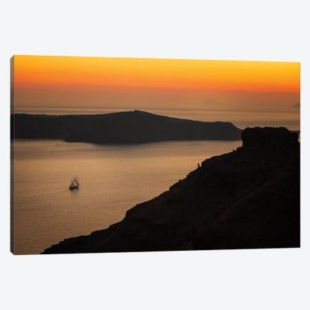 Santorini Sunset, Santorini, Greece Canvas Print #NIL152} by Jim Nilsen Canvas Art