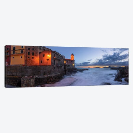 High Tide, Tellaro, Italy Canvas Print #NIL156} by Jim Nilsen Canvas Print