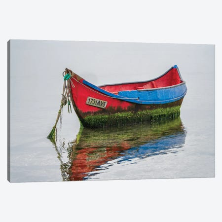 The Lonely Boat, Portugal Canvas Print #NIL157} by Jim Nilsen Canvas Art Print