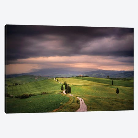The Path Of The Gladiator, Tuscany, Italy Canvas Print #NIL158} by Jim Nilsen Canvas Wall Art