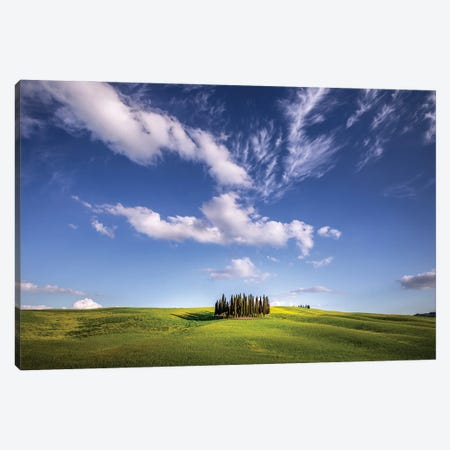 Cloud Show, Tuscany, Italy Canvas Print #NIL161} by Jim Nilsen Canvas Print