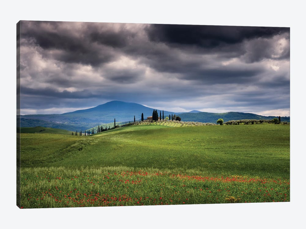 Approaching Storm, Tuscany, Italy by Jim Nilsen 1-piece Canvas Art Print