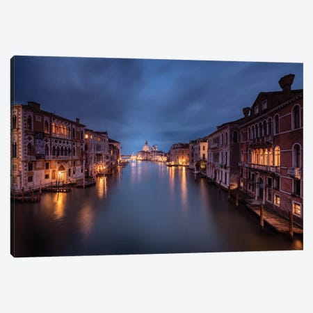 Canale Grande, Venice, Italy Canvas Print #NIL180} by Jim Nilsen Art Print