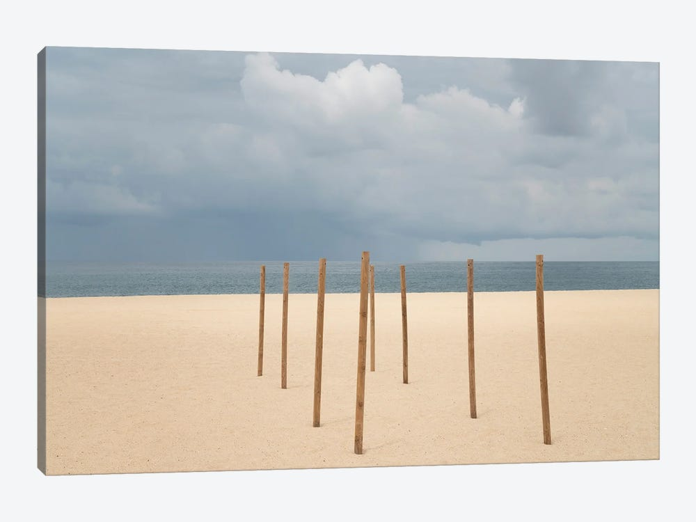 On The Beach, Nazare, Portugal by Jim Nilsen 1-piece Canvas Print