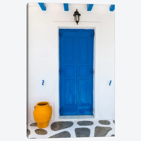 Fun House, Mykonos, Greece I Canvas Print #NIL19} by Jim Nilsen Canvas Art Print