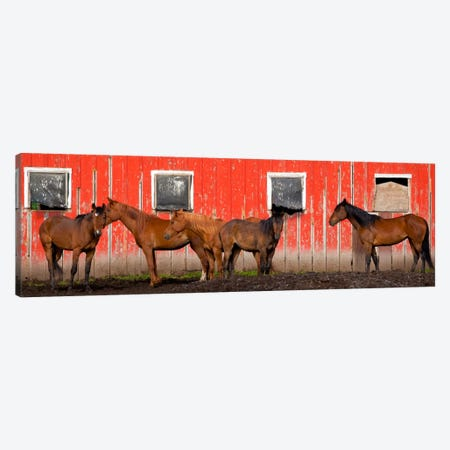 A Meeting At The Red Barn, Palouse, Washington Canvas Print #NIL1} by Jim Nilsen Canvas Art Print