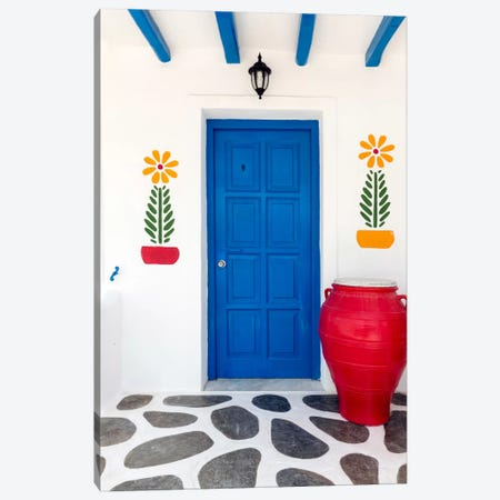 Fun House, Mykonos, Greece II Canvas Print #NIL20} by Jim Nilsen Canvas Art