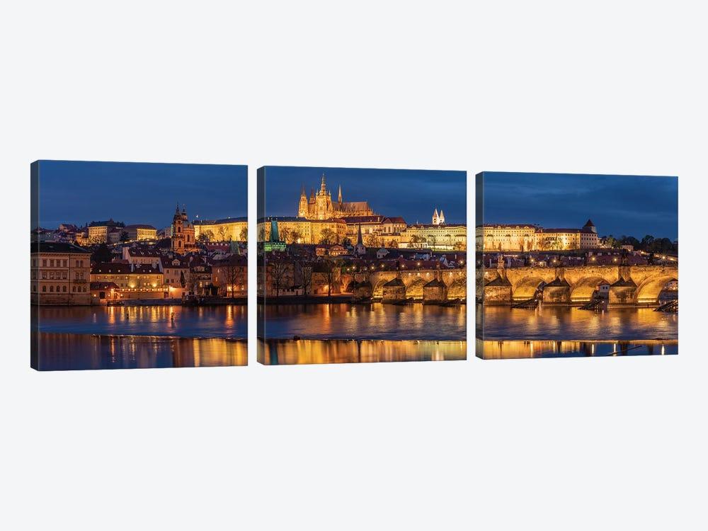The Castle, Prague, Czech Republic by Jim Nilsen 3-piece Canvas Art
