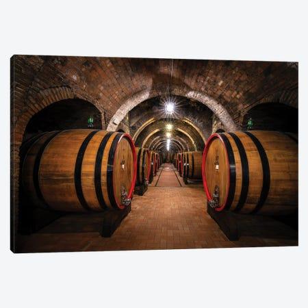 The Cellar, Montepulciano, Italy Canvas Print #NIL216} by Jim Nilsen Canvas Art