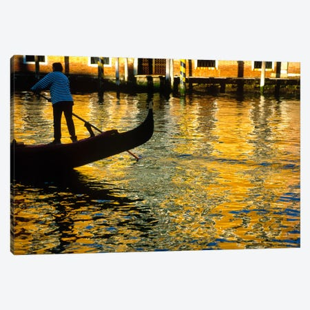 Golden Venezia, Venice, Italy Canvas Print #NIL21} by Jim Nilsen Canvas Wall Art