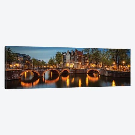 The Illuminated Bridge, Amsterdam, The Netherlands Canvas Print #NIL224} by Jim Nilsen Canvas Print