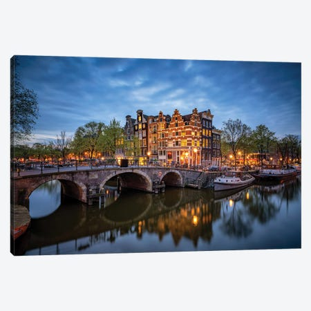 The Stillness Of Amsterdam, The Netherlands Canvas Print #NIL228} by Jim Nilsen Canvas Art