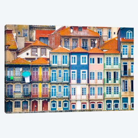 Good Morning Porto, Porto, Portugal Canvas Print #NIL22} by Jim Nilsen Canvas Art