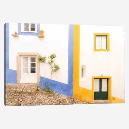 The Wall, Obidos, Portugal Canvas Print #NIL233} by Jim Nilsen Art Print