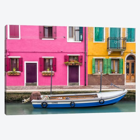Great Parking Spot, Burano, Italy Canvas Print #NIL23} by Jim Nilsen Canvas Art