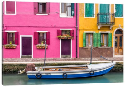 Great Parking Spot, Burano, Italy Canvas Art Print