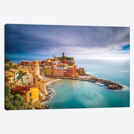 Vernazza Afternoon, Cinque Terre, Italy Canvas Print #NIL240} by Jim Nilsen Canvas Art