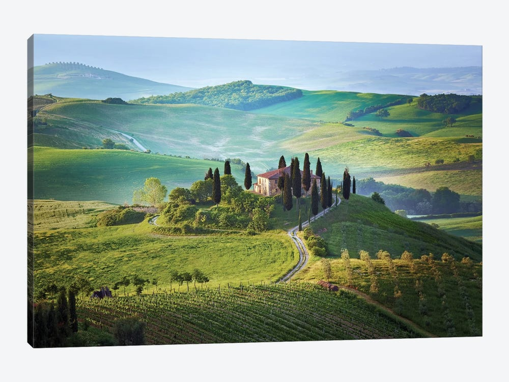Il Belvedere, Tuscany, Italy by Jim Nilsen 1-piece Canvas Artwork