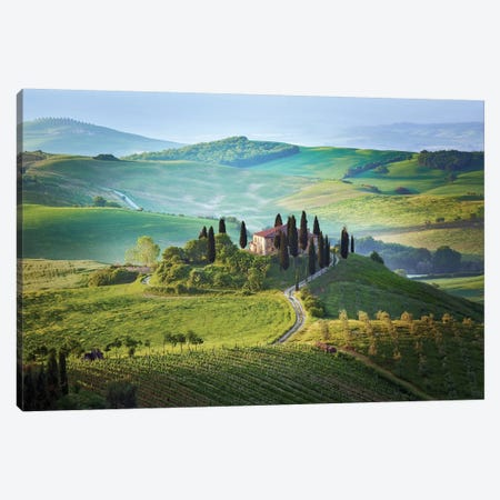 Il Belvedere, Tuscany, Italy Canvas Print #NIL24} by Jim Nilsen Canvas Print